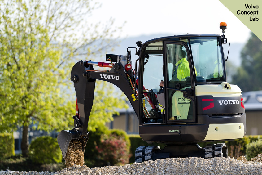 Volvo Group unveils construction's first ever electric excavator