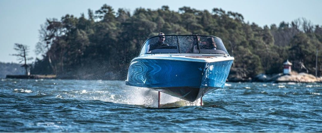 THE WORLD'S FIRST HYDROFOILING ELECTRIC PRODUCTION BOAT